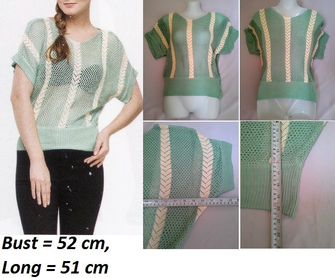 **CELLY**   Knitted Blouse (Green)