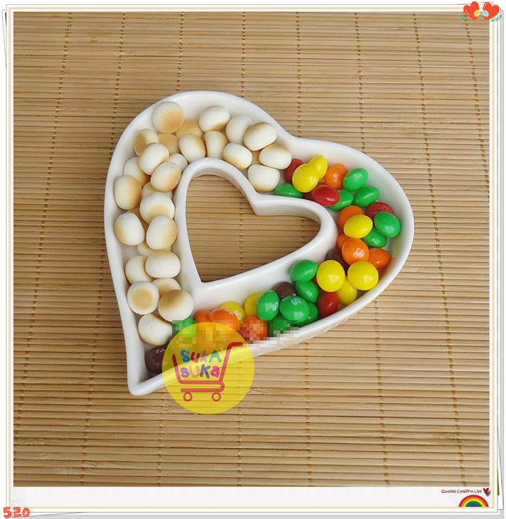 Ceramic Heart Shaped Candy Dish