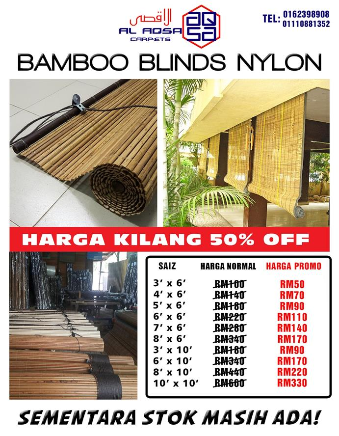CHEAP BAMBOO BLINDS NYLON  IN MALAYSIA 50% OFF
