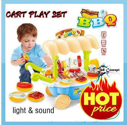 Children BBQ Toy Gril Play Set (Blue Set)