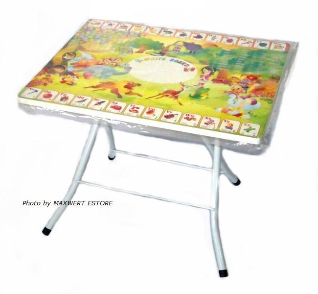 Children Fold-able Cartoon Top Table, Height Adjustable Table