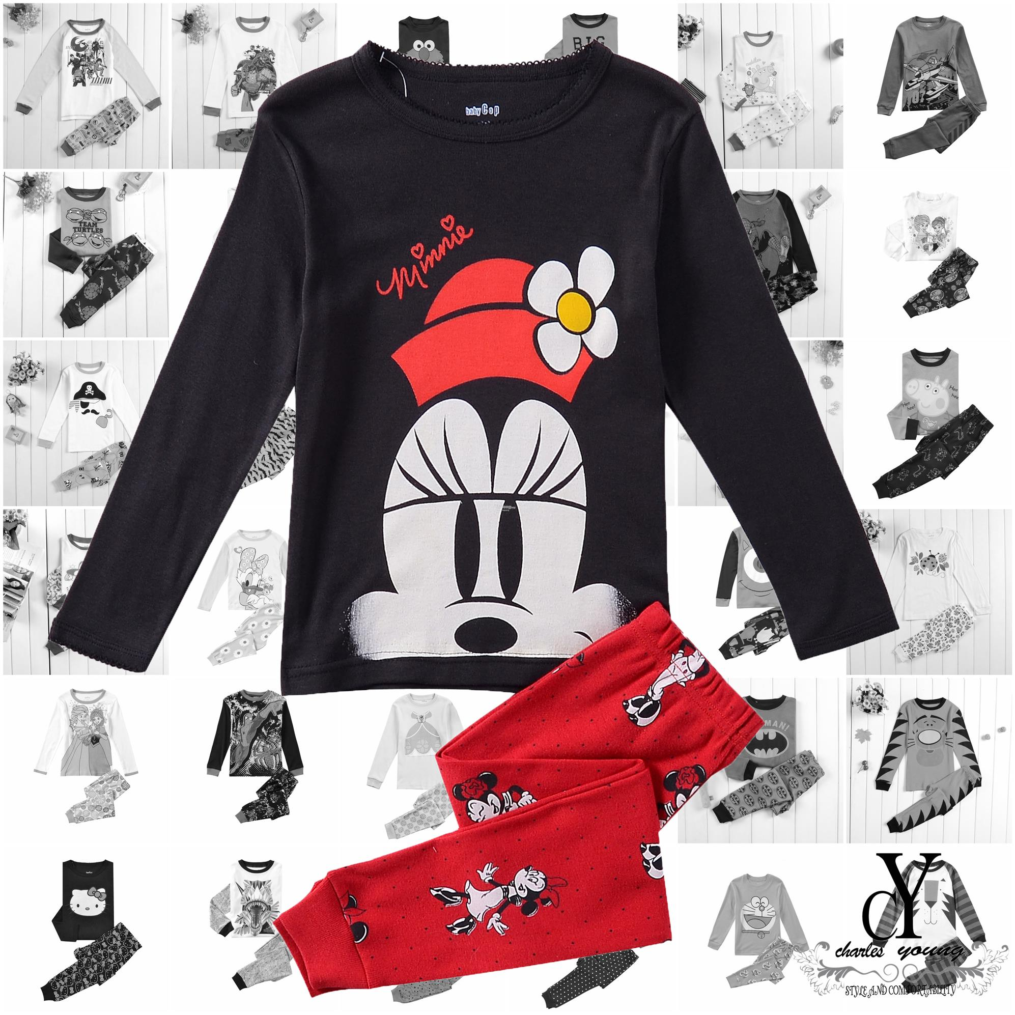 CHILDREN,PYJAMAS,PASANG,TIDUR,CARTOON,DISNEY,COTTON,MICKEY,MINNEY