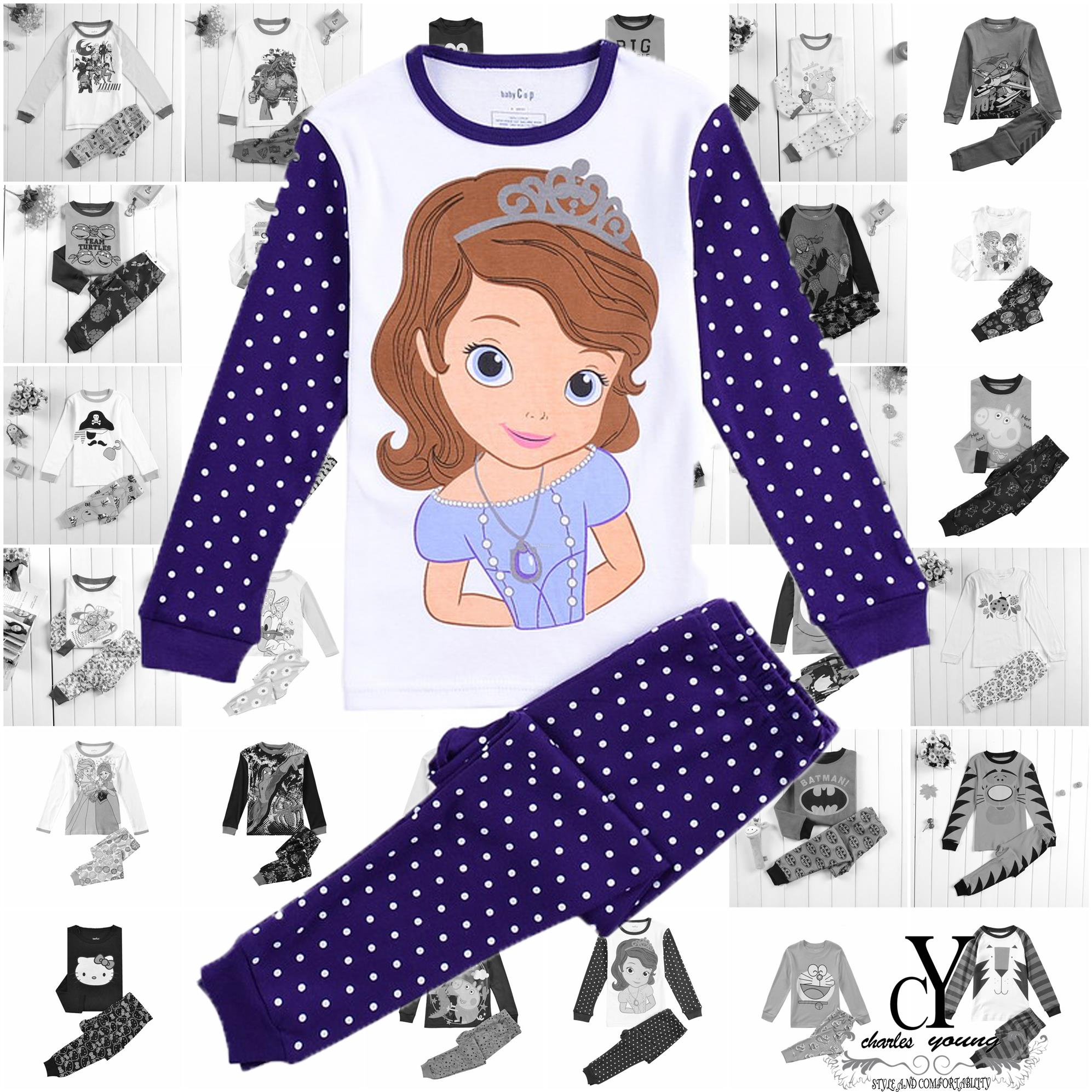 CHILDREN,PYJAMAS,PASANG,TIDUR,CARTOON,DISNEY,SOFIA,THE,FIRST,PRINCESS