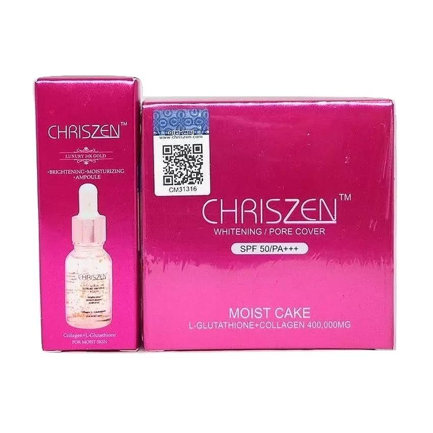 Chriszen Moist Cake SPF 50++ Code 03 Dark with Extra Gift