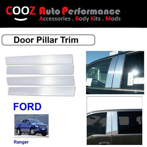 CHROME DOOR / WINDOW  PILLAR POST TRIM COVERS  FOR FORD RANGER