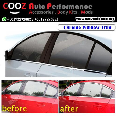 CHROME SIDE WINDOW FRAME MOULDING TRIM COVER - TOYOTA PRADO FJ90
