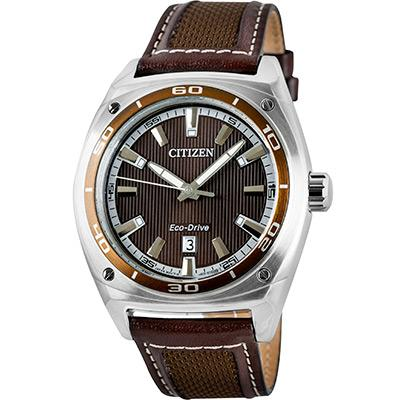 CITIZEN AW1051-09W AW1051-09 ECO-DRIVE LEATHER WATCH