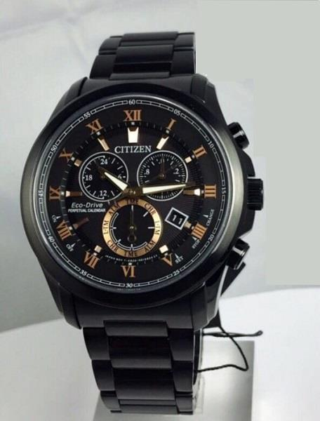 CITIZEN BL5545-50E BL5545-50 Eco-Drive Black IP Sapphire Chrono Watch