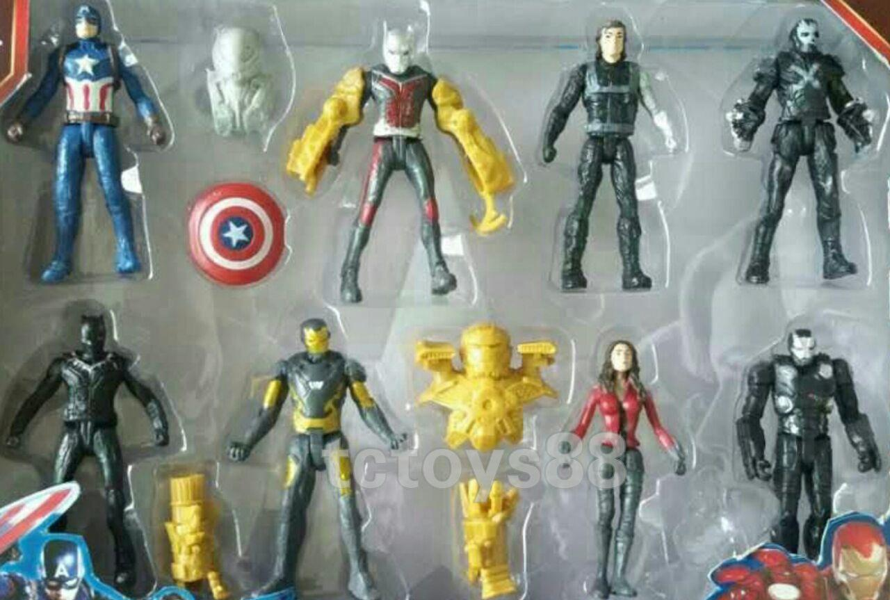 Civil War. Super Hero mini figure. Cake Topper. (16pc in 1). OFFER.!!!