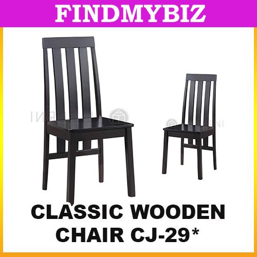 CJ-29 CLASSIC WOODEN BLACK CHAIR TABLE CAFE SHOP LIVING ROOM PREMIUM