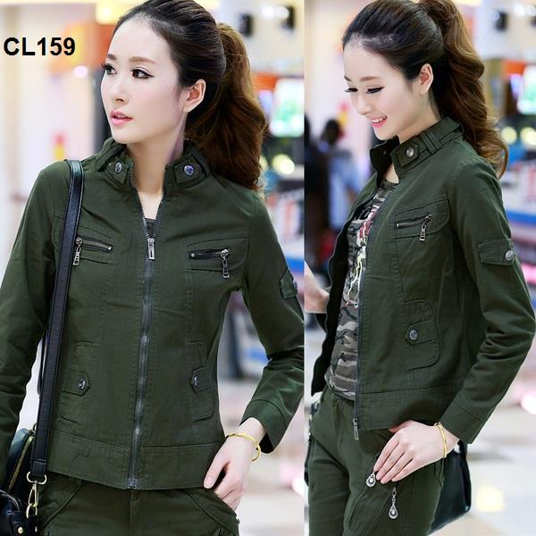CL159 Korean Style Woman Army Style Jacket / Fashion Outwear Coat