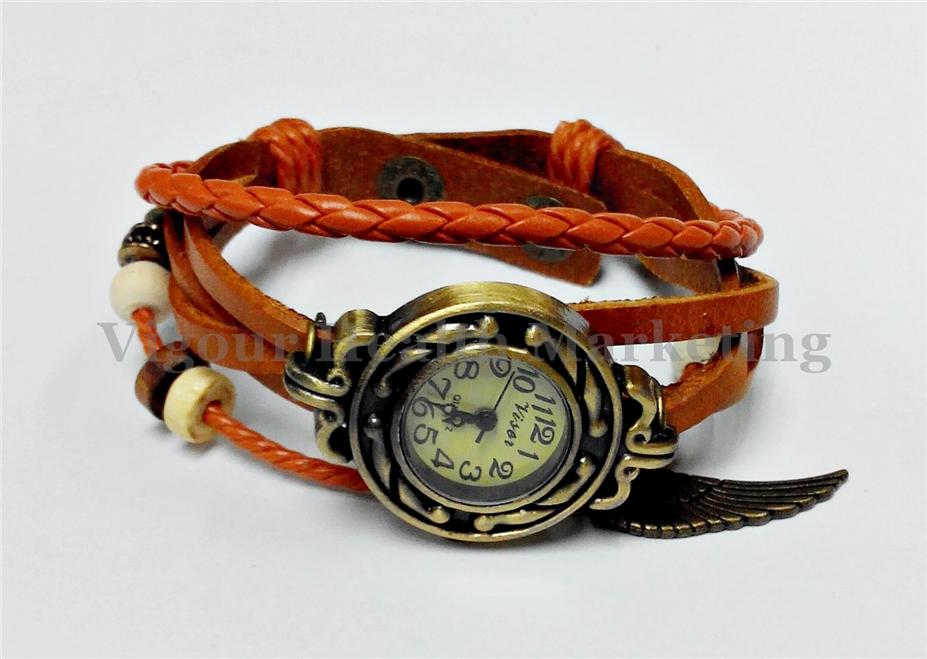 Classic Design Unique  Hand Band Watch - Orange