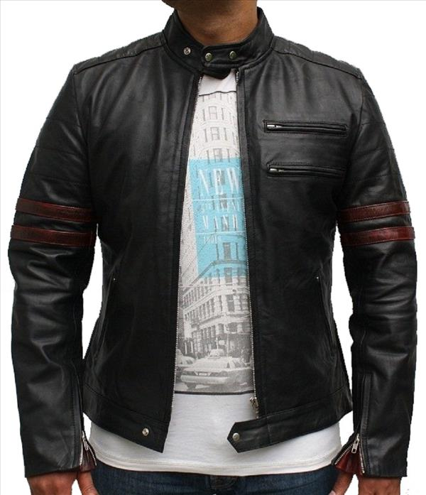 Classyak Men Fashion Leather Jacket Black Light Slimfit