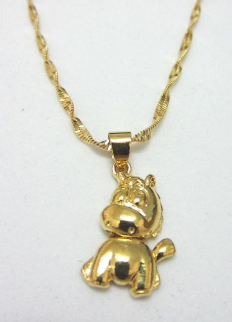 Clearance Cute Adorable Lucky Horse 24K Gold Necklace