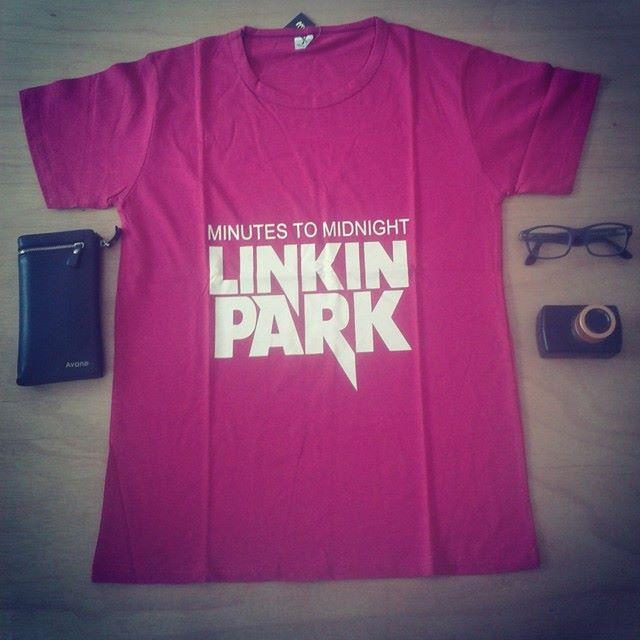 Clearance Stock Linkin Park Full Cotton Free Size Tshirt