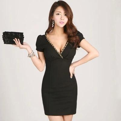 [CM5692] Women Fashion Sexy Clubbing Dinner Dress Black
