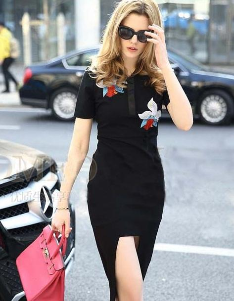 [CM5979] Europe Fashion Woman Casual Wear Dress Black