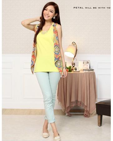 [CM70221Y] Women One Piece Top Yellow