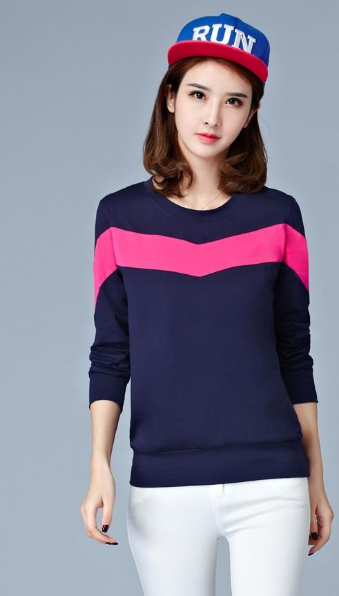 [CM74201B] Women Fashion Top Blue