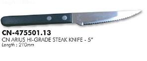 CN ARIUS HI-GRADE STEAK KNIFE - 5' - 6PCS/PACK