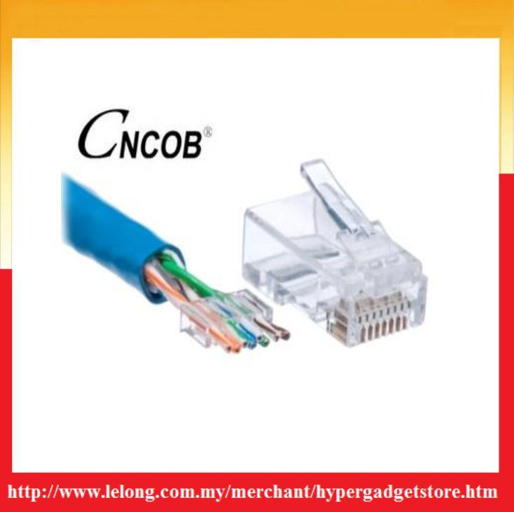 CNCOB Cat.6 RJ45 Connector (Model:CN-2001) (100pcs/Per Package)