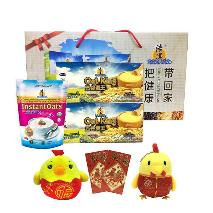 CNY Hamper Oat King Original Flavor 600g + 2 Properity Chickens