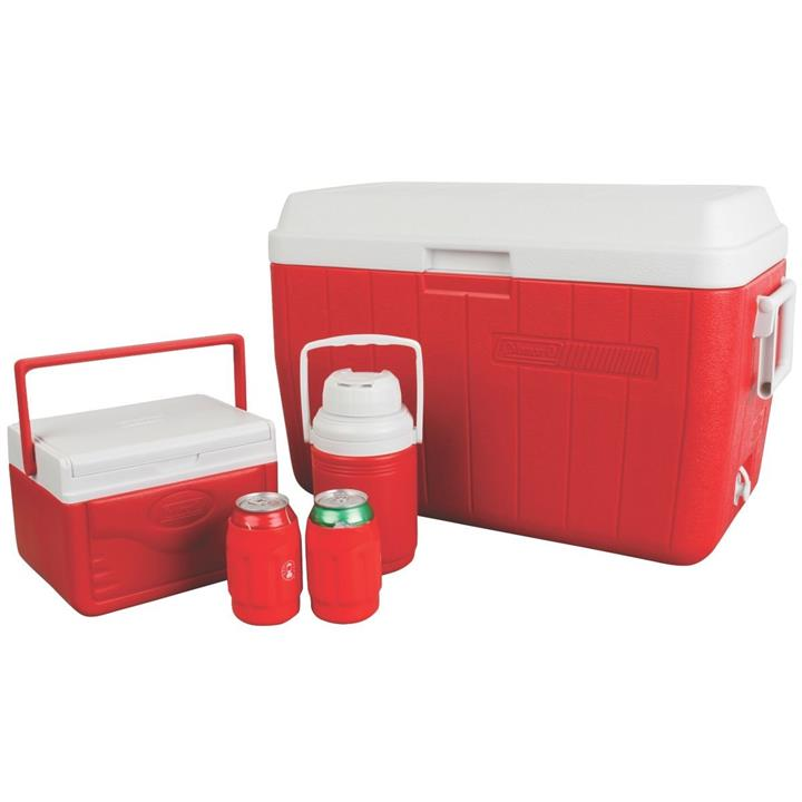 Coleman 54QT Cooler Combo Set Red (New)