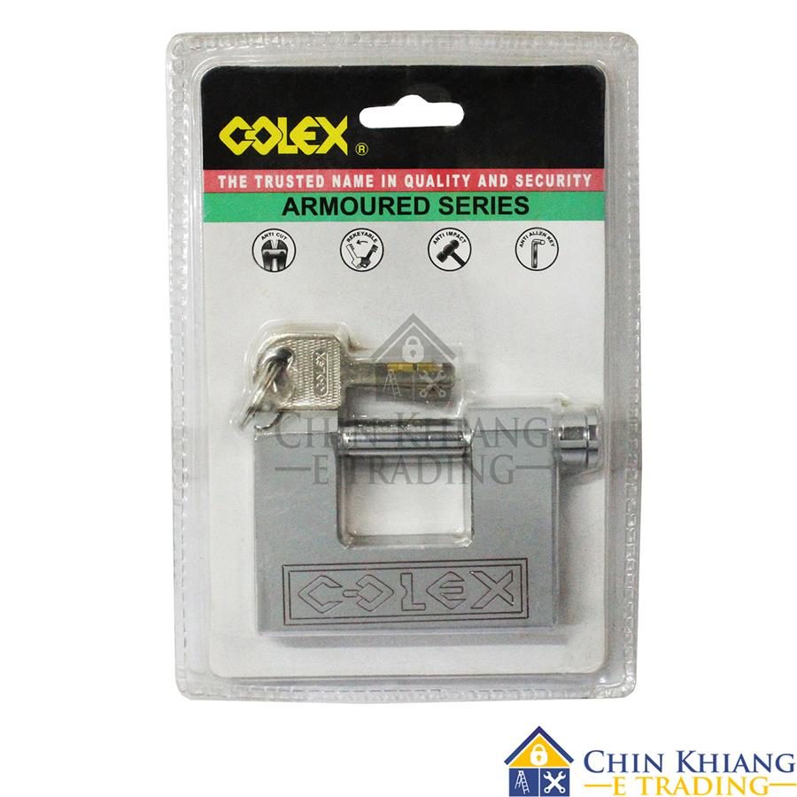 COLEX Armoured Chrome Padlock 70mm or 80mm