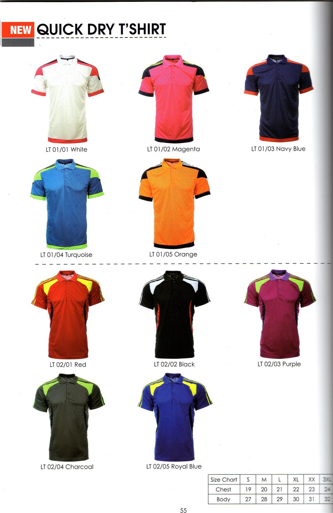 Collar Short Sleeves Polo T Shirt Kemeja Lengan Pendek Kolar Quick Dry