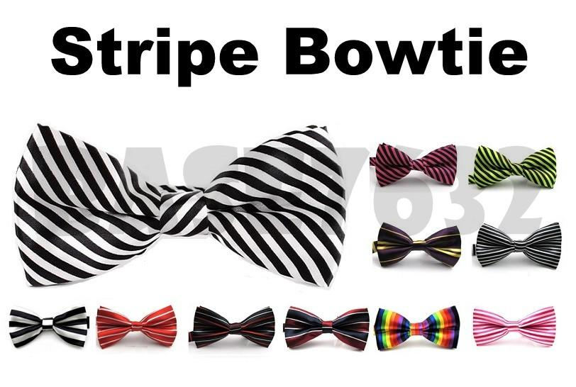 Colorful  Stripe Men Man Bowtie Necktie Neckwear Bow Tie 1650.1