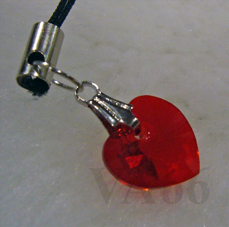 Colors Swarovski Crystal Heart Cell Phone Keychain Party Favors ..