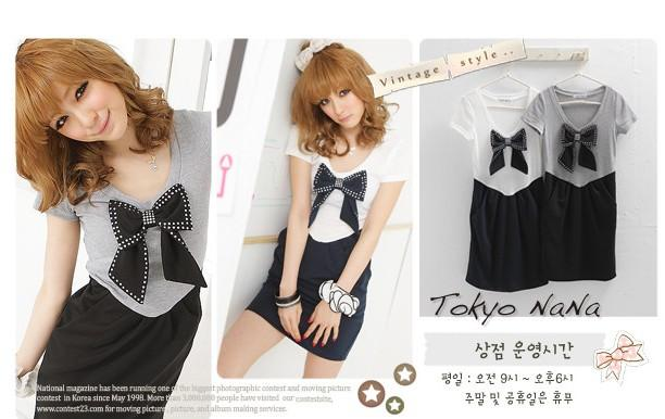 *Comax Store*Sweet & Girly Bow Dress [Y9126]