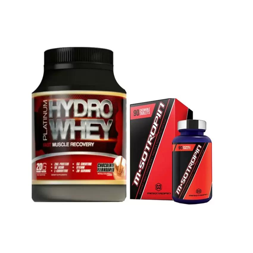 Combo Hydro Whey + Mesotropin Muscle Anabolic Booster + Free T-shirt