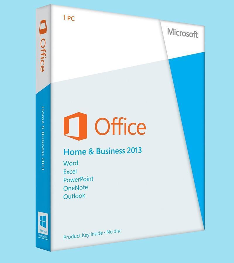 Commercial Microsoft Office 2013 Home AND Business Retail Box