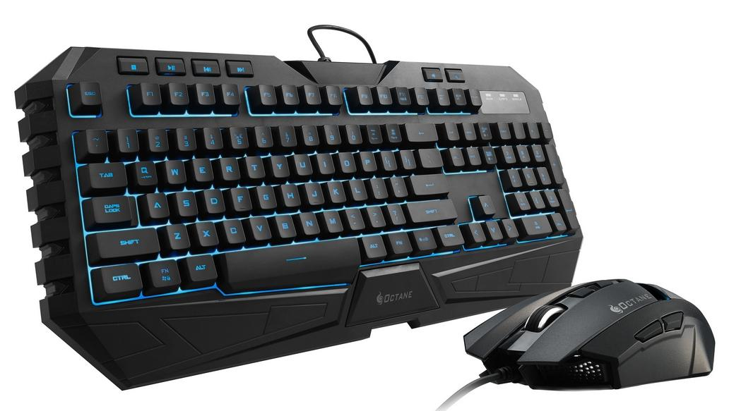 COOLER MASTER WIRED GAMING KEYBOARD MOUSE OCTANE (SGB-3020-KKMF1) BLK