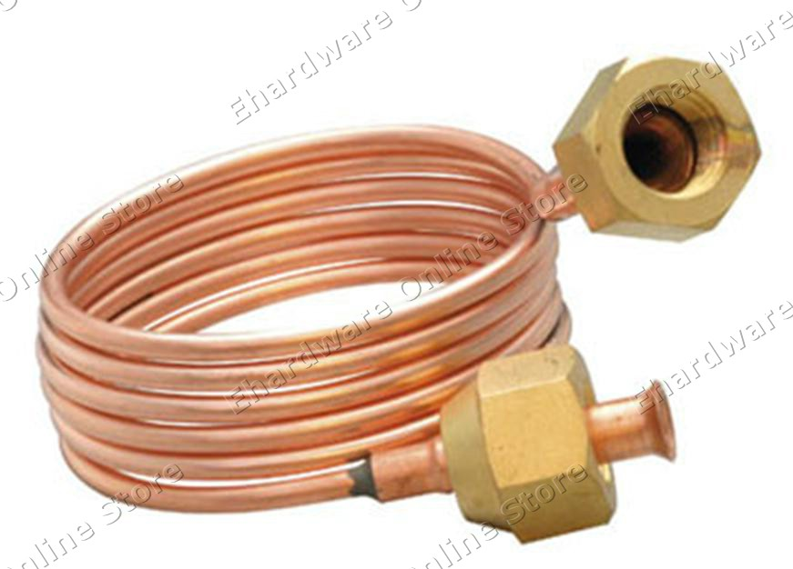 COPPER CAPILLARY TUBE WITH 1/4' FLARE NUTS 900MM (PM900M)