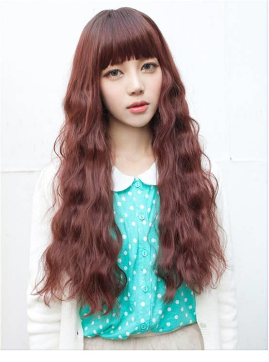 Corn perm long hair wig CP1/rambut palsu/ready stock