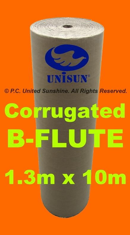 CORRUGATED B-FLUTE 1.3m x 10m L ONLINE PROMO Kraft Paper Packaging