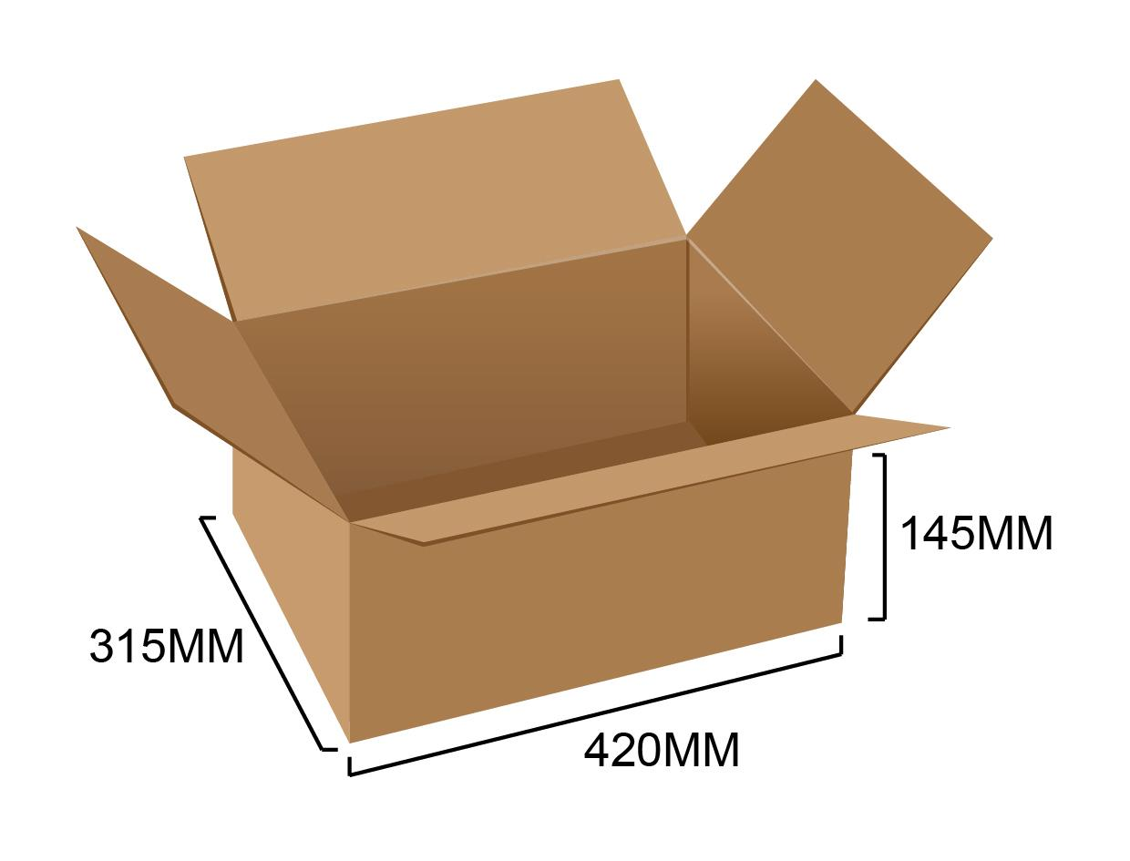 Corrugated Box 16.5' x 12.5' x 6' (5pcs)