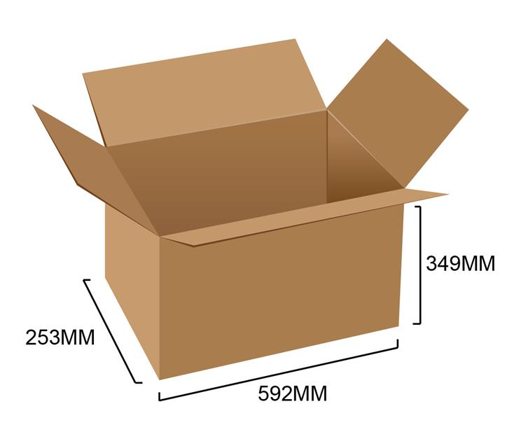 Corrugated Box 23' x 10' x 13.7' (5pcs)