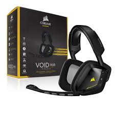 CORSAIR VOID WIRELESS RGB 7.1 USB HEADSET (CA-9011132-AP) BLK