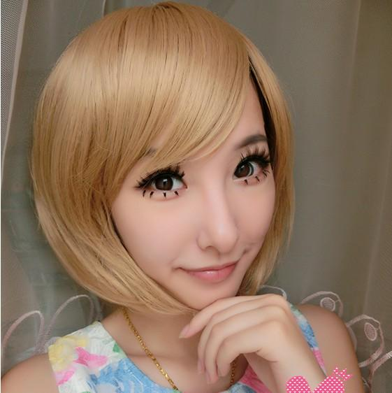 Cosplay bobo colour hair wig td3/ Gold/ ready stock/ rambut palsu