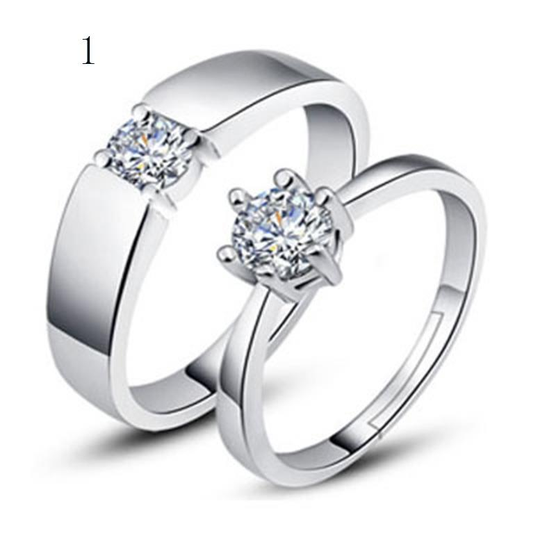 a couple of opening siver ring lovers ring for couple wedding rings - Couple Wedding Rings