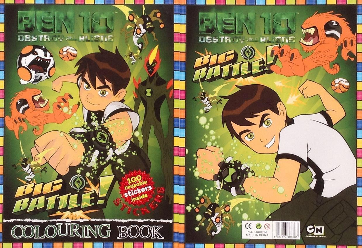 Crazy Sale - Ben 10 Colouring Book with Stickers