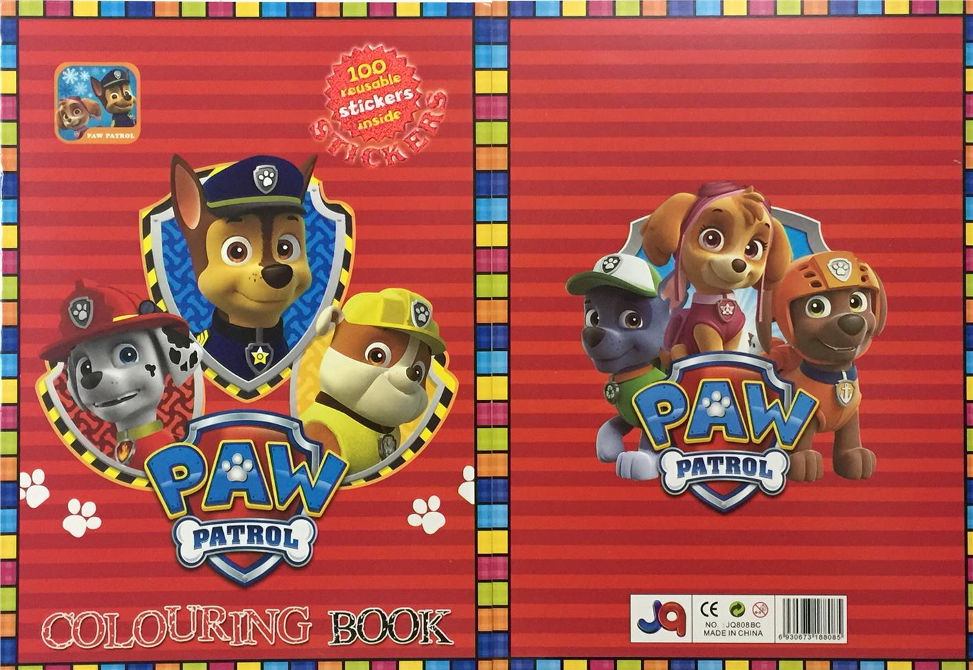 Crazy Sale - Paw Patrol Colouring Book with Stickers