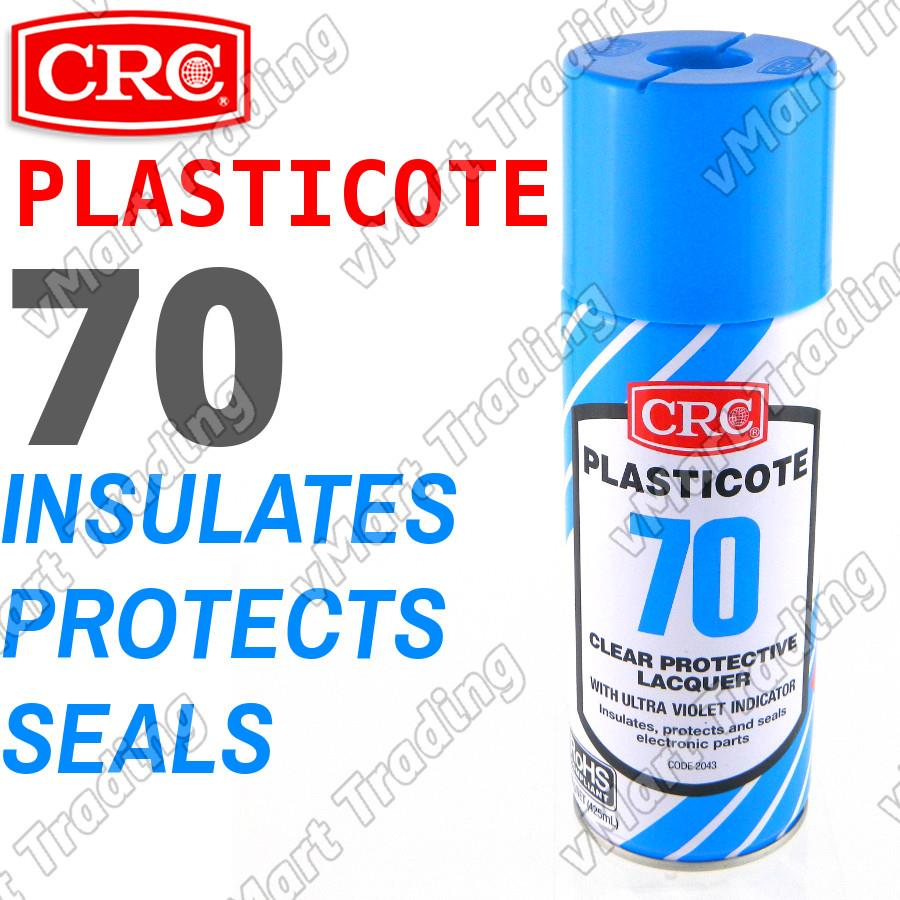 CRC Plasticote 70 Clear Acrylic Lacquer Protective Coating [425ml]