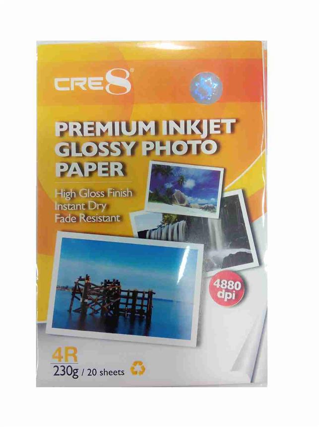 CRE8 4R 20 Sheets Premium Inkjet Glossy Photo Paper