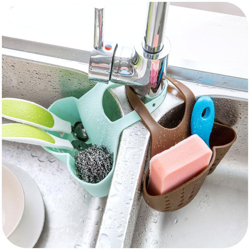 Creative Adjustable Sink Sponge Draining Holder