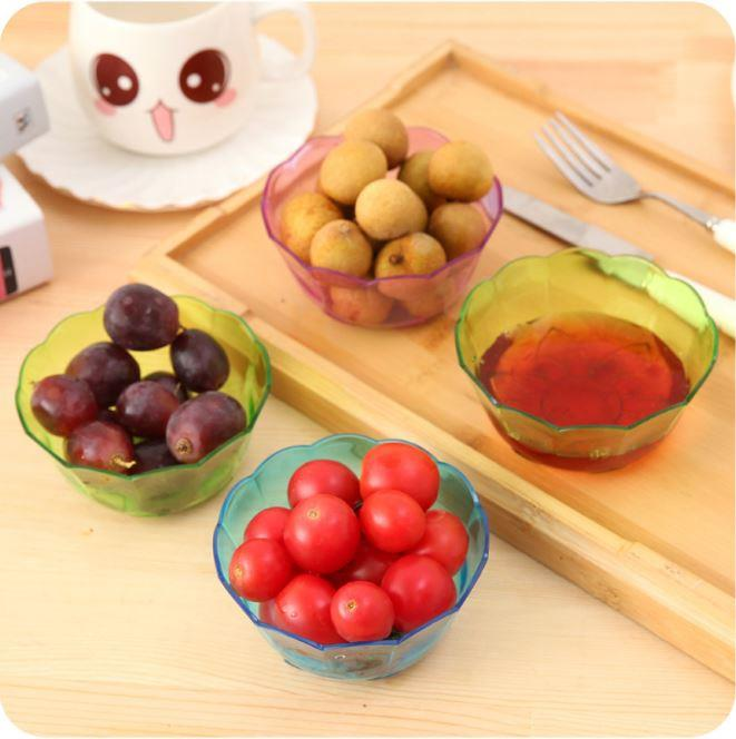 Creative Candy Color Transparent Plastic Crystal Bowl