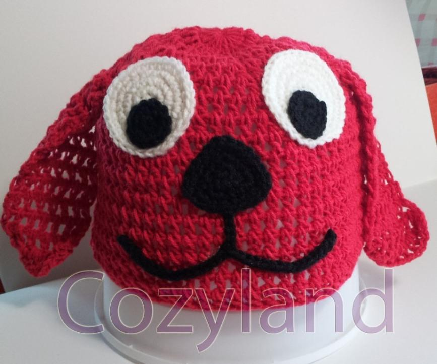 Crochet Hat - Patrick The Big Red Dog